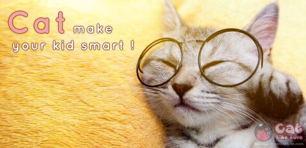 เลี้ยงแมวช่วยให้เด็กฉลาดขึ้น…จริงอ๊ะ !?!?!